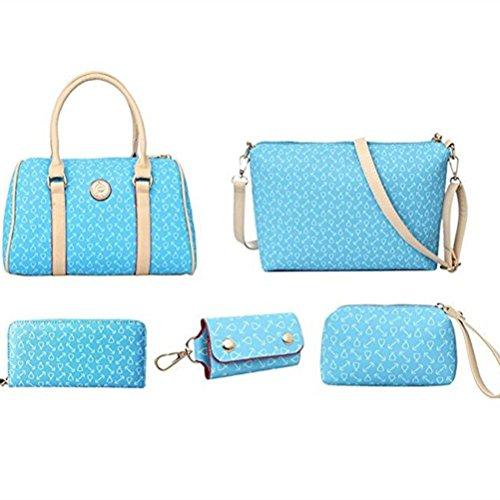 Borse Pezzi Set borse 6 Azzurro Donna Honeymall Donna Tote zRPnpqPw