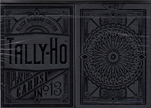 Black Diamond Tally-Ho Circle Back Playing Cards Poker Size Deck USPCC KWP ()