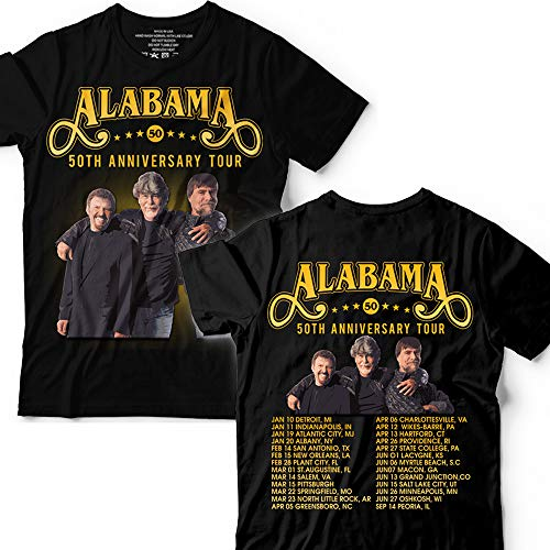 Alabama Rock Band 50th Anniversary Customized T-Shirt Hoodie/Long Sleeve/Tank Top/Sweatshirt