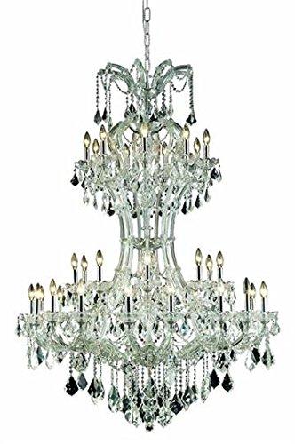 - Karla Chrome Traditional 36-Light Grand Chandelier Swarovski Spectra crystal in Crystal (Clear)-2380D46C-SA--46