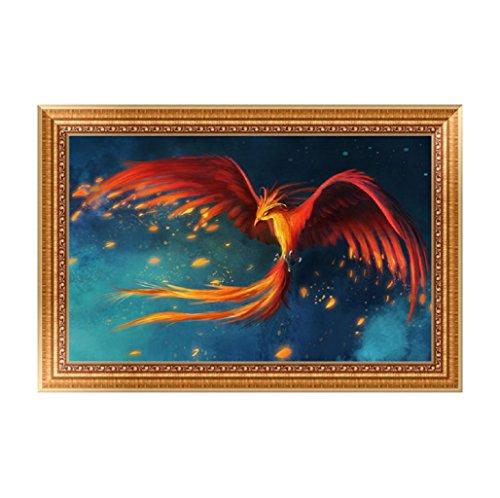 Doober DIY 5d火鳥ダイヤモンド刺繍絵画クロスステッチクラフトホームデコレーションキット