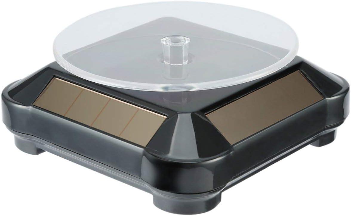 Celerhuak 360 Platine Vinyle Automatique Rotatif Bijoux Lunette Cas et Pr/ésentoirs Stand Collier Bracelet Montre Mode Solaire Vitrine