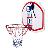 oldzon Mini Basketball Hoop Backboard & Rim Combo 35'' x 24'' Wall Mounted With Ebook