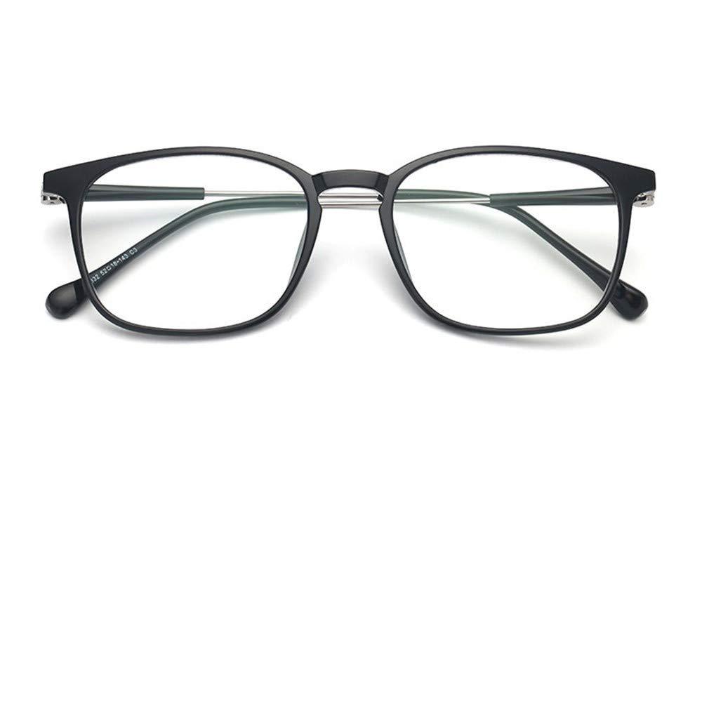 KOMNY Anti-blau Lesebrille männlich Anti-Strahlung presbyopische Brille tragbare alte alte alte Lichtgläser hell schwarz Silber, A + 100 2b4443