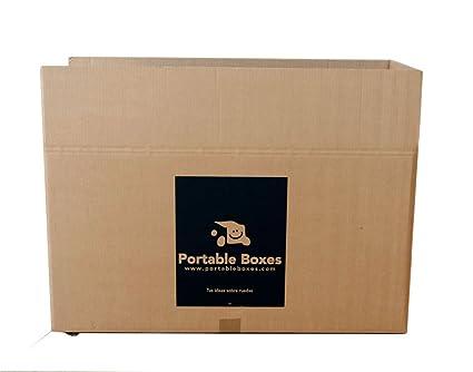 3 Cajas de cartón para mudanzas de alta calidad con ruedas incorporadas