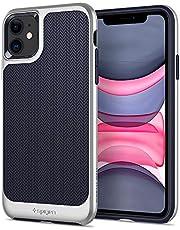 Spigen Neo Hybrid Serisi Kılıf iPhone 11 ile Uyumlu/TPU AirCushion Teknoloji/Ekstra Koruma - Satin Silver