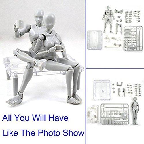 Masterpiece Collection Pedestal - Uranny Body Kun DX Set Male & Female Action Figure Model Set for SHF Body Kun Doll PVC Body-Chan DX Set 2.0 (1 Set-Action Figure Model)