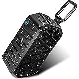DLAND Water Resistant Wireless Bluetooth Speaker - IPX6 Waterproof, HD Audio, Built-in Mic, Support 3.5 mm Audio Jack - Heavy Duty Dust Proof, Shockproof, Ultra Portable 【Best Outdoor Speaker】
