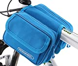 Bicycle Frame Pannier Front Tube Bag Case for Cell Phone,Blue