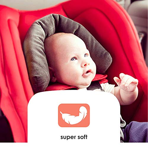 Diono Head Support, Protective Head Support for Use in Car Seats, Infant Carriers, and Strollers, Grey by Diono (Image #2)