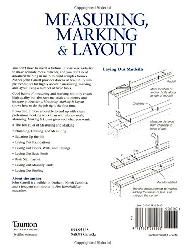 Measuring, Marking & Layout: A Builder's Guide