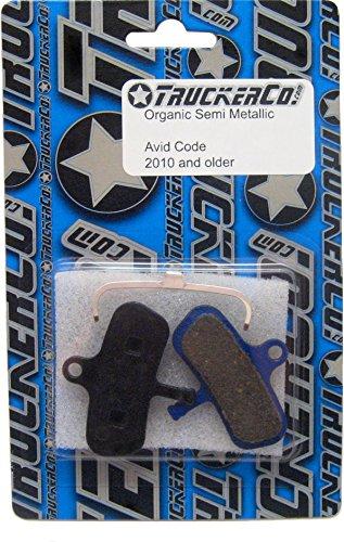 Truckerco Organic Semi-Metallic disc Brake Pads Sram Avid Code 2007-2010, Code 5, Code-m, Code-o, ()