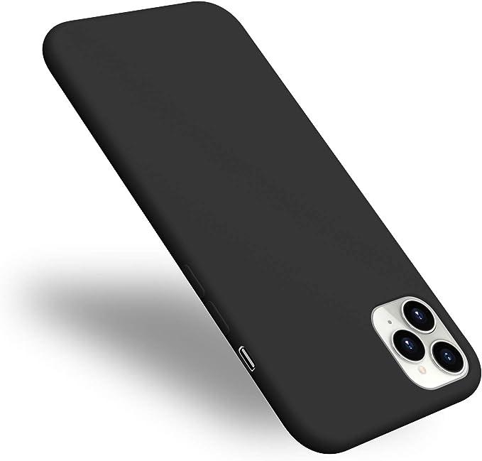 Aucaeo Coque iPhone 11 Pro, Ultra Fine Silicone 360 Antichoc Protection Integrale Anti Rayures Interieur Velour Bumper de Extra Slim Mince Housse Étui ...