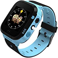 Kids Smart Watch, LBS Tracker for Boys Girls with SOS Call Camera Flashlight Alarm Activity 1.44'' Touch Screen SIM Card…