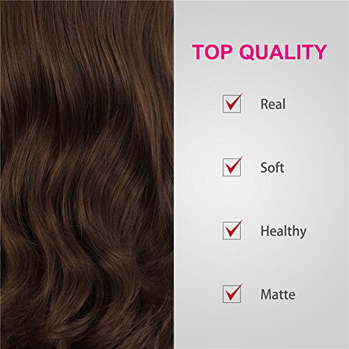 IMSTYLE Lace Front Wigs Natural Brown Wigs For Women Synthetic Long Wave Heat Resistant Synthetic Hair Costume Wigs 26inch by IMSTYLE (Image #5)