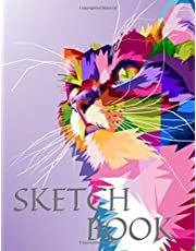"""Sketch Book: Cat Cute Colorful 8.5"""" X 11"""", Personalized Artist Sketchbook: 105 pages, Sketching, Drawing and Creative Doodling. Notebook and Sketchbook to Draw and Journal (Workbook and Handbook)"""