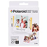 Polaroid Papel fotográfico Zink con bordes 3.5 x 4.25 pulgadas (20 hojas) Compatible con la cámara instantánea Polaroid POP