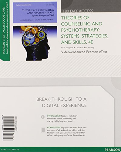 Theories of Counseling and Psychotherapy: Systems, Strategies, and Skills, Video-Enhanced Pearson eText -- Access Card (4th Edition)