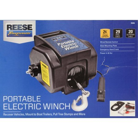 51kHnMHNhcL amazon com reese towpower portable electric winch home improvement master lock winch wiring diagram at gsmx.co