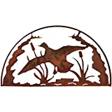 7055 Inc Rustic Elements Duck Hoop Metal Wall Art, Natural Rust Patina Review