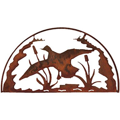 Wall Decor Patina (7055 Inc Rustic Elements Duck Hoop Metal Wall Art, Natural Rust Patina)