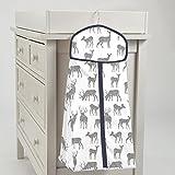 Carousel Designs Gray and Navy Deer Diaper Stacker