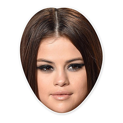 Unwelcome Greetings Disgusted Selena Gomez Mask - Perfect for Halloween, Masquerade, Parties, Events, Festivals, Concerts - Jumbo Size -