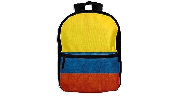 Mochila de estilo vintage con la bandera de Sagrado Colombia para niños y niñas: Amazon.es: Hogar