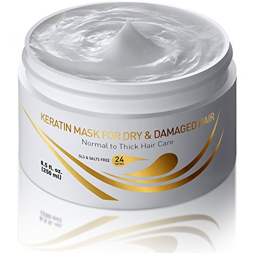 Keratin Dry & Damaged Deep Conditioner Mask - Thick Coarse Hair Care - Keratin Protein & Argan Oil Complex - Long Lasting Conditioning ()