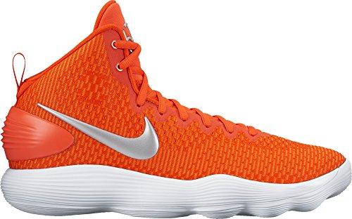 Mens Nike Hyperdunk 2017 TB Basketball Shoe (Team Orange/Silver, 18)