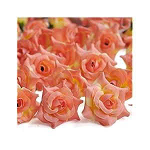 Freshheart 150pcs Artificial Curling Rose Flower Heads Coral Wedding DIY 3xHS7-9 96