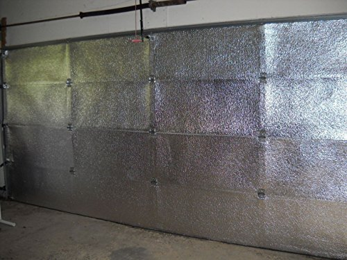 NASA TECH Reflective Platinum Double Car Garage Door Insulation Foam Core Kit Fits Double Garage Car Doors up to 16ft by 7ft NASA Technology MADE IN THE USA