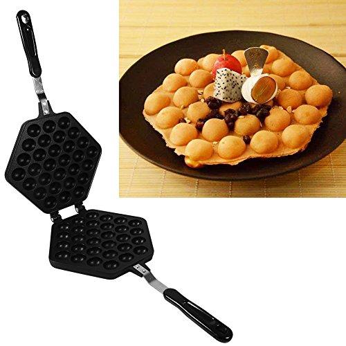 Waffle Maker Egg Bubble Pan, Aluminum Alloy Non-stick Waffle Cake Baking Mold Plate(Egg Mould)