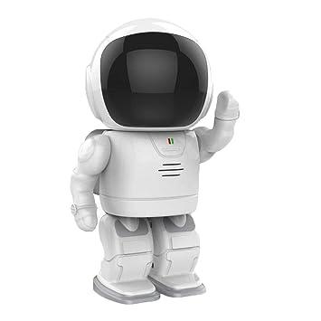 Longxia Robot Cámara Casa Seguridad Vigilancia Cámara Inalámbrica Estilo Hermoso Y Conveniente para Llevar A Cabo La Supervisión De Cámara HD WiFi Interior: ...