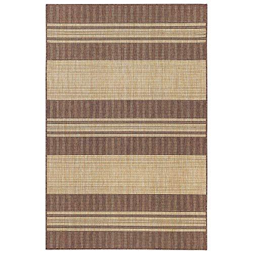 Liora Manne CRE58843519 Carmel Stripe Indoor/Outdoor Rug,