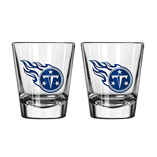 NFL Tennessee Titans Game Day Shot Glass, 2-ounce, 2-Pack (Glass Titans Tennessee)