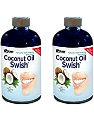 Ayurveda Oil Pulling Coconut Oil and Bad Breath Remedy: Excellent for Teeth Whitening, Dry Mouth, & Oral Detox - Resolves Bad Breath and Removes Tea & Coffee Stains on Teeth - Risk Free Guarantee