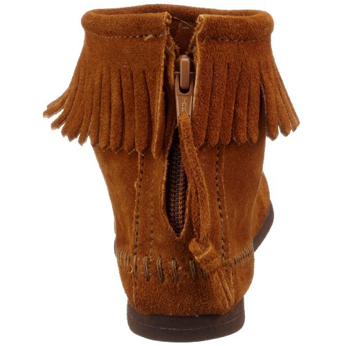 Minnetonka Damen Back Zipper 282 Mokassin Stiefel, Braun (Brownbrown), 35 EU