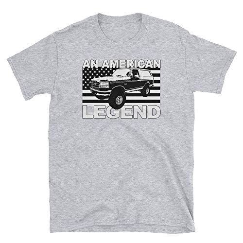 OBS Ford Bronco Short-Sleeve Unisex T-Shirt with American Flag Sport Grey