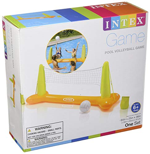 51kHqUI9WcL - Intex Pool Volleyball Game, 94in X 25in X 36in, for Ages 6+