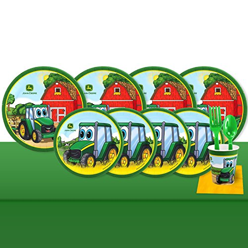 BirthdayExpress John Deere Party Supplies Johnny Tractor 32 Guest Party Pack (John Deer Birthday)