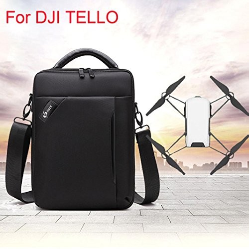 Nsix DJI backpack with inner shoulder bag For DJI TELLO drone waterproof portable shoulder bag storage box packaging bag (Black) by Drone_Tello