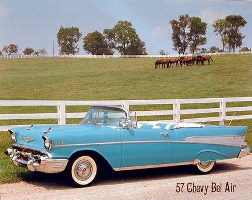 1957 Chevy Bel Air Brad Wagner Vintage Car Wall Decor Art Print Poster (16x20) - 1957 Poster Print