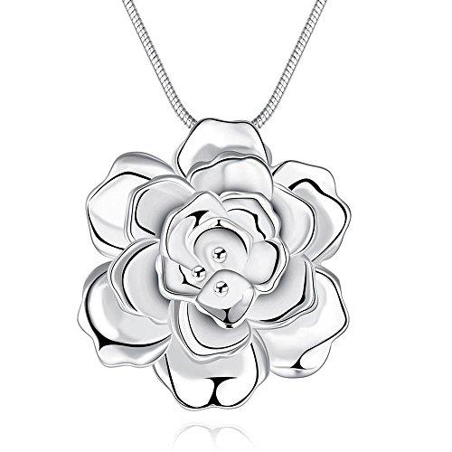 [Romantic Flower Ladies Pendant Necklace] (Kida Atlantis Costume)