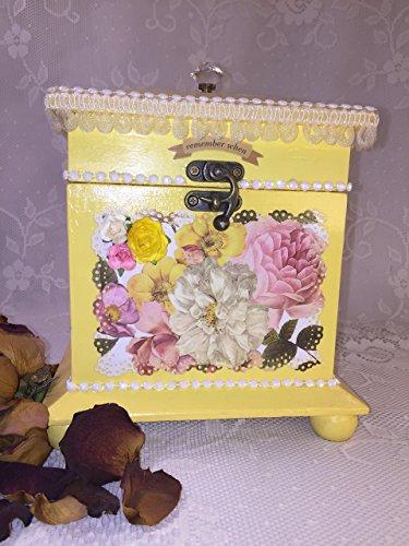 Decorative Yellow Box, Storage, Home Decor **FREE Shipping** from zusafuss creative impressions boutique