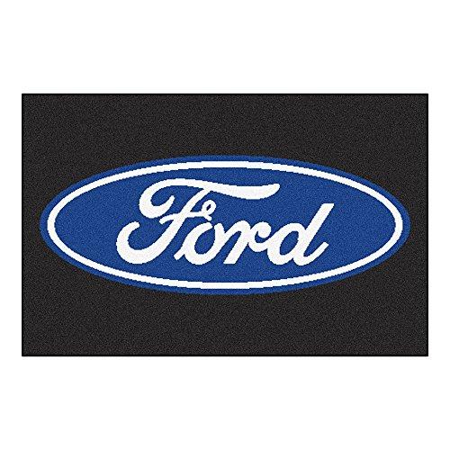- Fanmats 16075 Ford Oval Starter Rug - Black