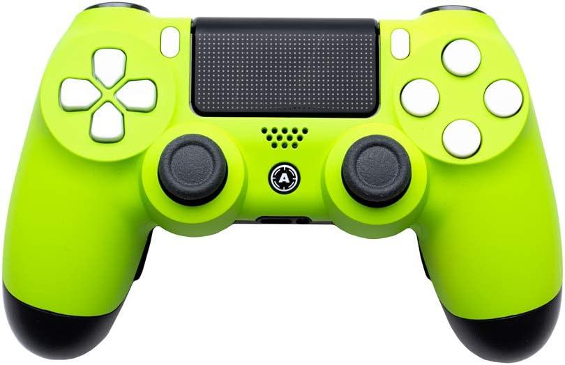 AimControllers - Mando inalámbrico Personalizado para PS4, Playstation 4, Mando Personalizado con 4 Palas, Fluo: Amazon.es: Electrónica