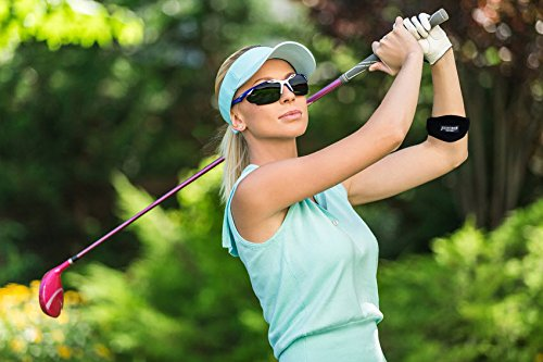 Tennis Golfers Elbow Brace for Tendonitis Treatment, Elbow Strap with Compression Pad, Tennis Elbow Pain Relief Support for man and woman + Drawstring Carrying Bag by Essencell (Image #4)
