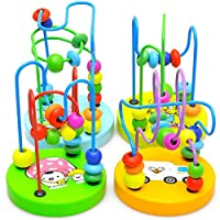 happyday04 Activity Cube, Developmental Play Activity Center for Kids, Sided Colorful Bead Maze Shape Shorter Learning Puzzle Toys