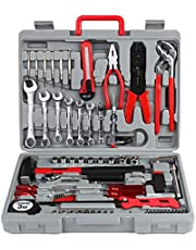 FIXKIT 39 Pcs Kit Coffret d'outils,Outils de Ménage,Kit Outils de Main,Mallette à outils